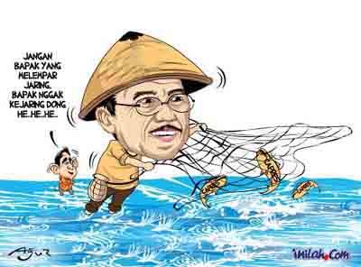 Sumber gambar (gambar asli telah diedit) http://www.inilah.com/berita/kartun/2009/02/18/84477/jusuf-kalla-jaring-capres-golkar  /