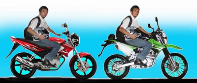 riding position klx vixion