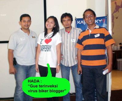 biker blogger with hada