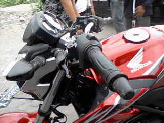 CB150 crash at Parangtritis