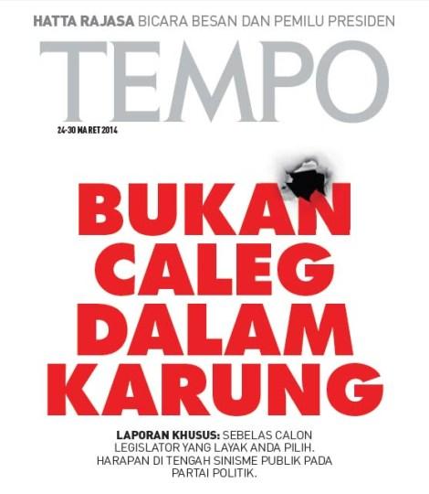 Caleg Karung Tempo
