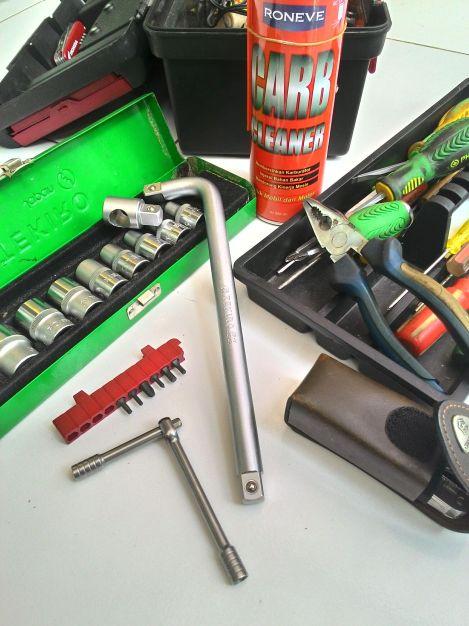 Sebelum servis DIY, pastikan peralatan yang tersedia mendukung aktivitas.